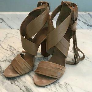 Vince Sand Beatrice Wraparound Block Sandals
